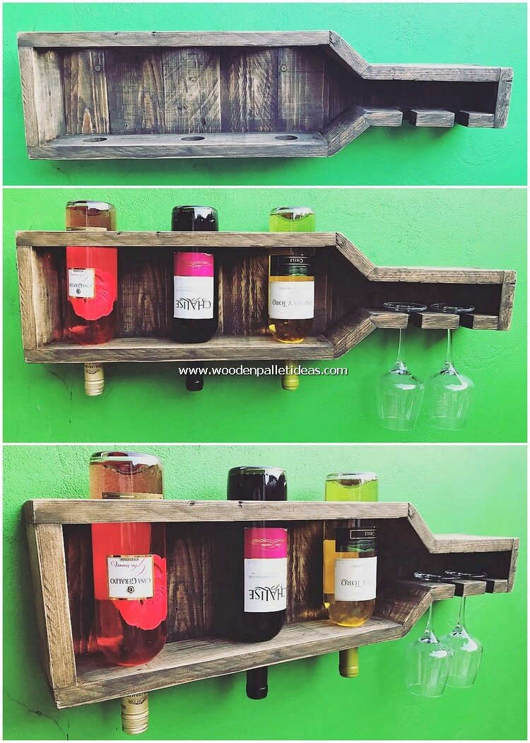 Wooden Pallet Wine Rack