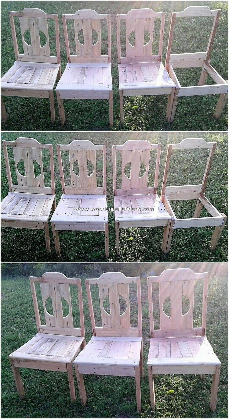 DIY Pallet Chairs
