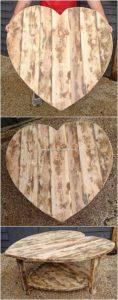 Heart Shape Pallet Table