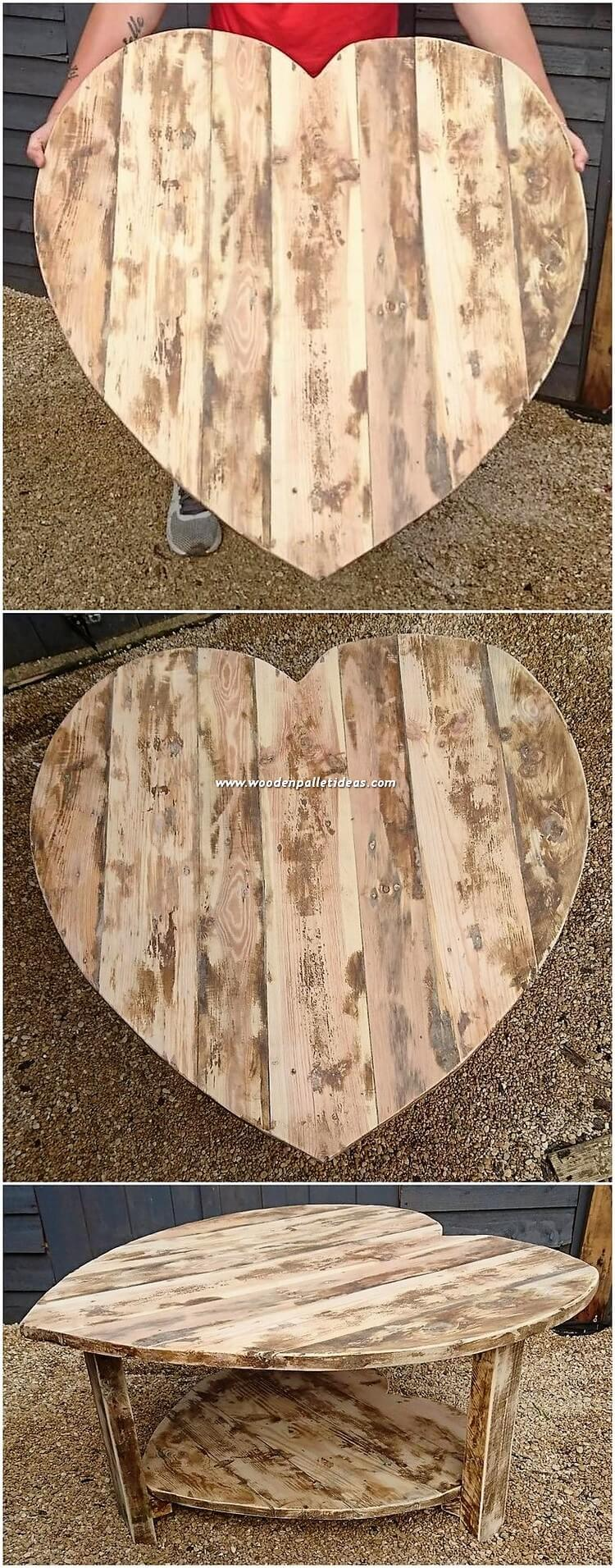 Heart Shape Pallet Table