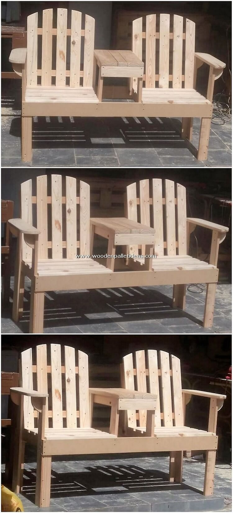 Pallet Attached Chairs