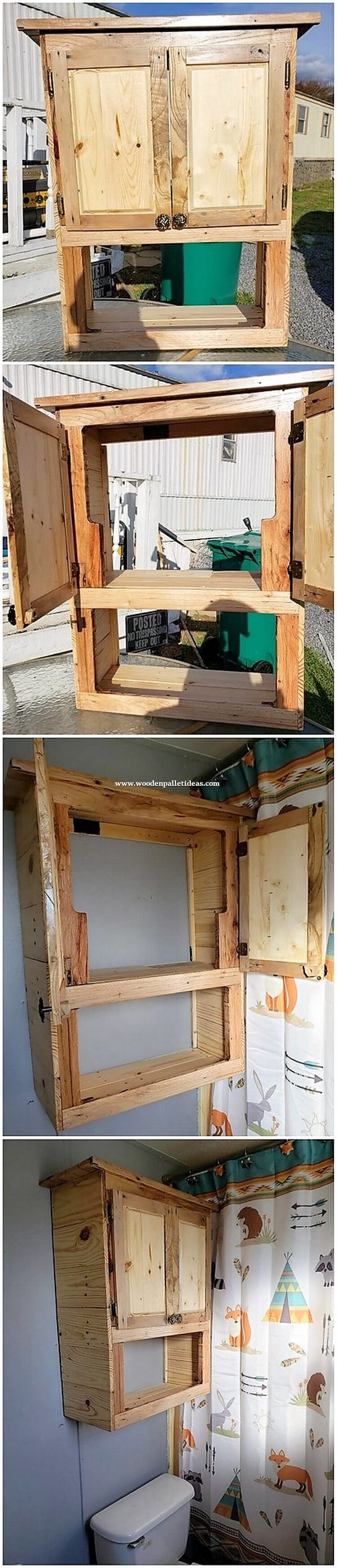Pallet Bathroom Wall Cabinet