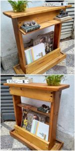 Pallet Bookshelf or Side Table