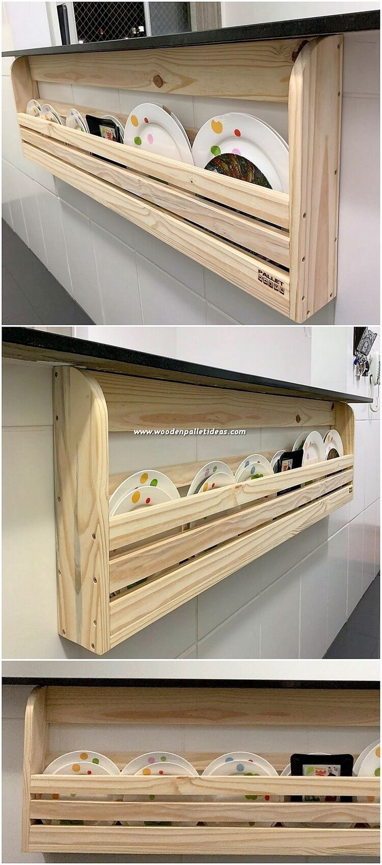 Pallet Kitchen Wall Shelf