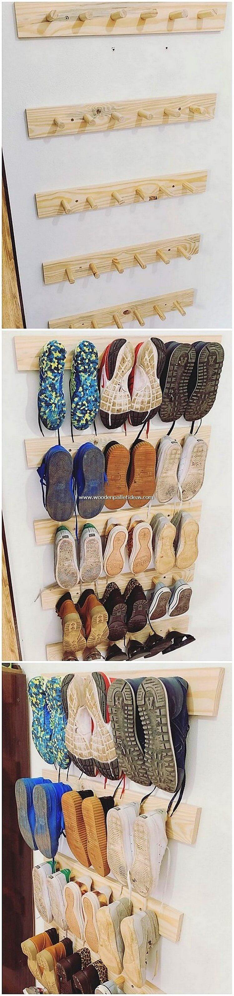 Pallet Shoe Racks