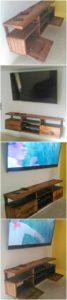 Pallet Wall Media Cabinet