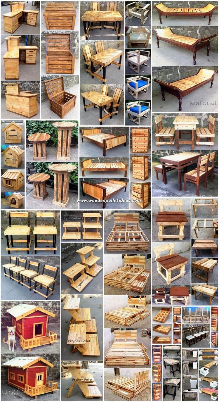 Ultimate DIY Ideas to Reuse Scraped Wood Pallets
