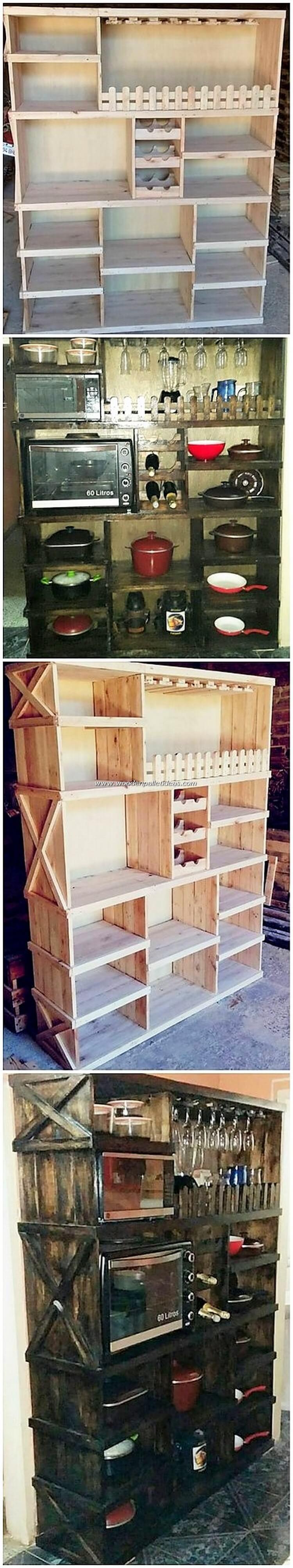 Wooden Pallet Shelving Unit