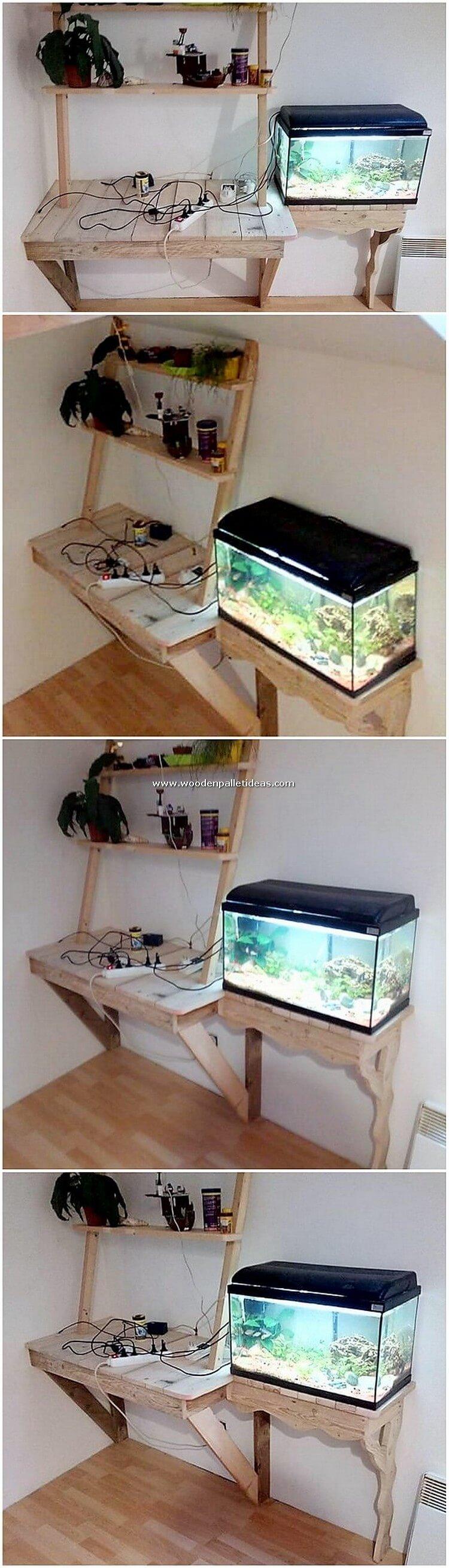 Pallet-Aquarium-Stand-with-Desk-Table