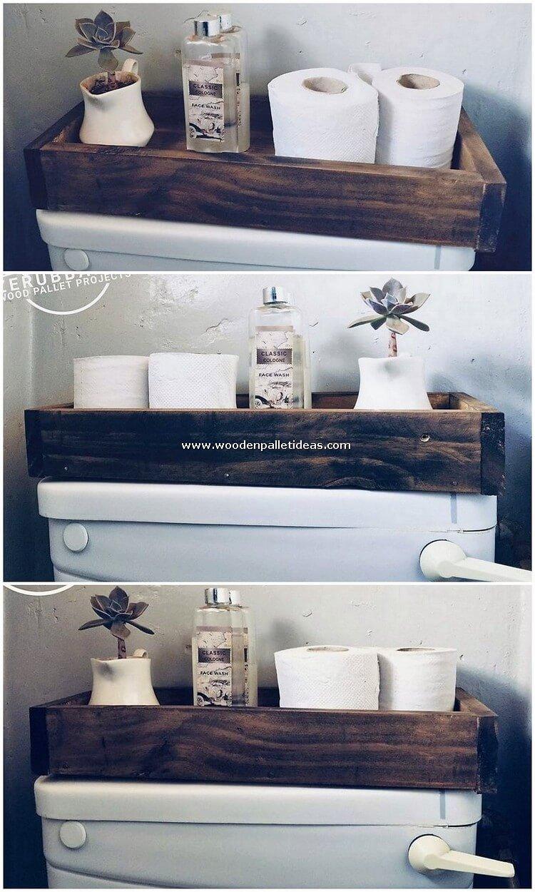 Pallet Bathroom Tray