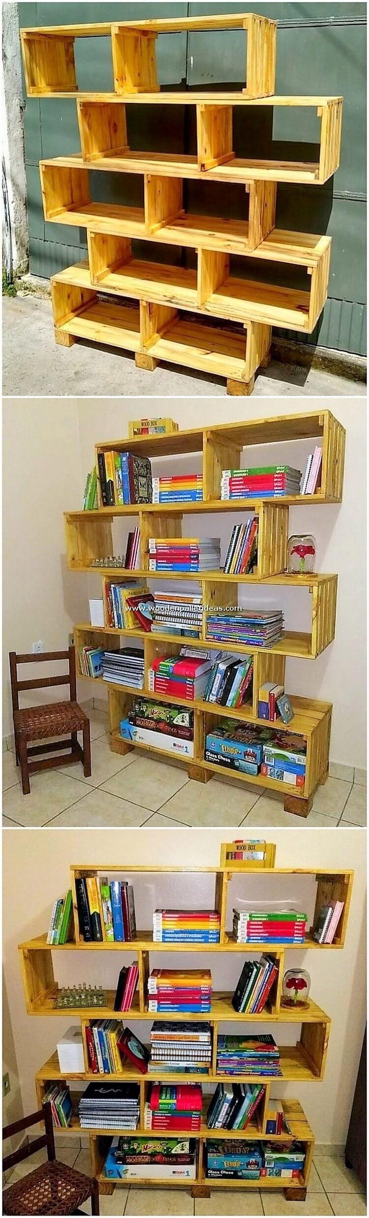 Pallet-Bookshelving