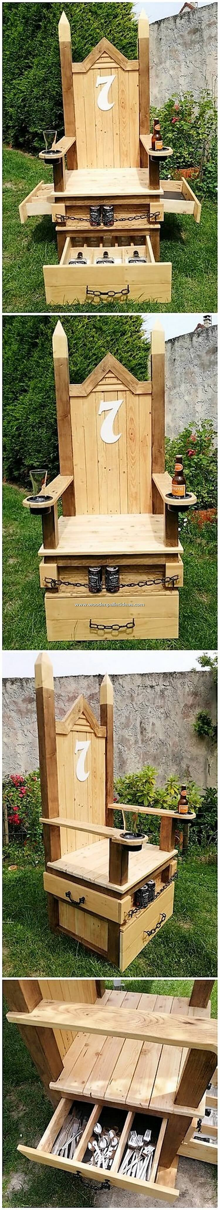 Pallet-Chair-with-Drawers