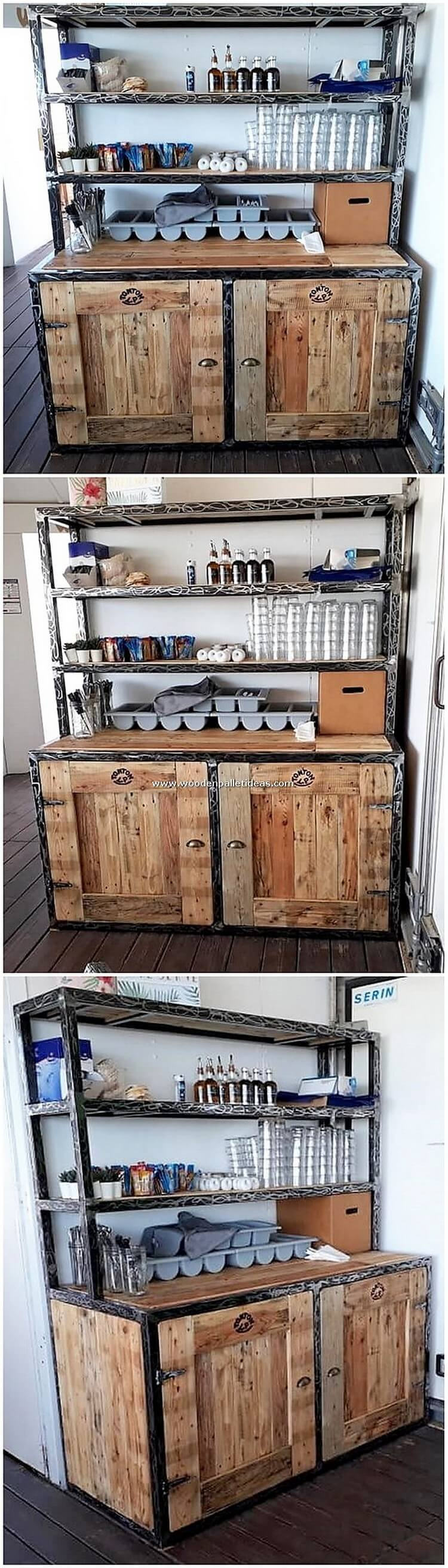 Pallet Desk with Cabinet
