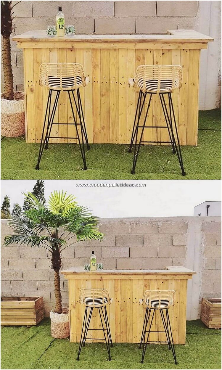 Pallet Garden Bar Counter