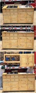 Pallet Kitchen Cabinet with Sink