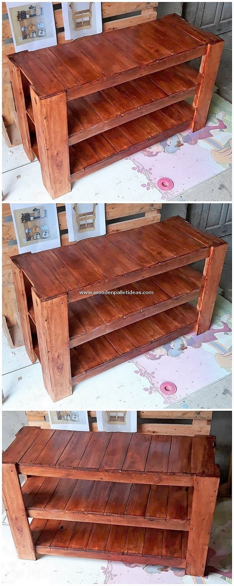 Pallet-Shelving-Table