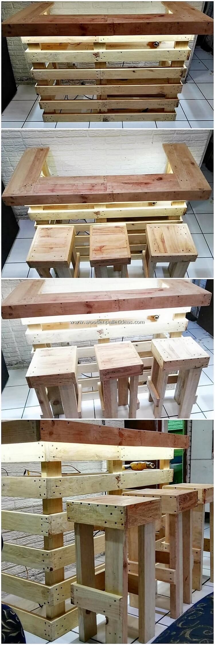 Pallet-Bar-with-Lights-and-Stools