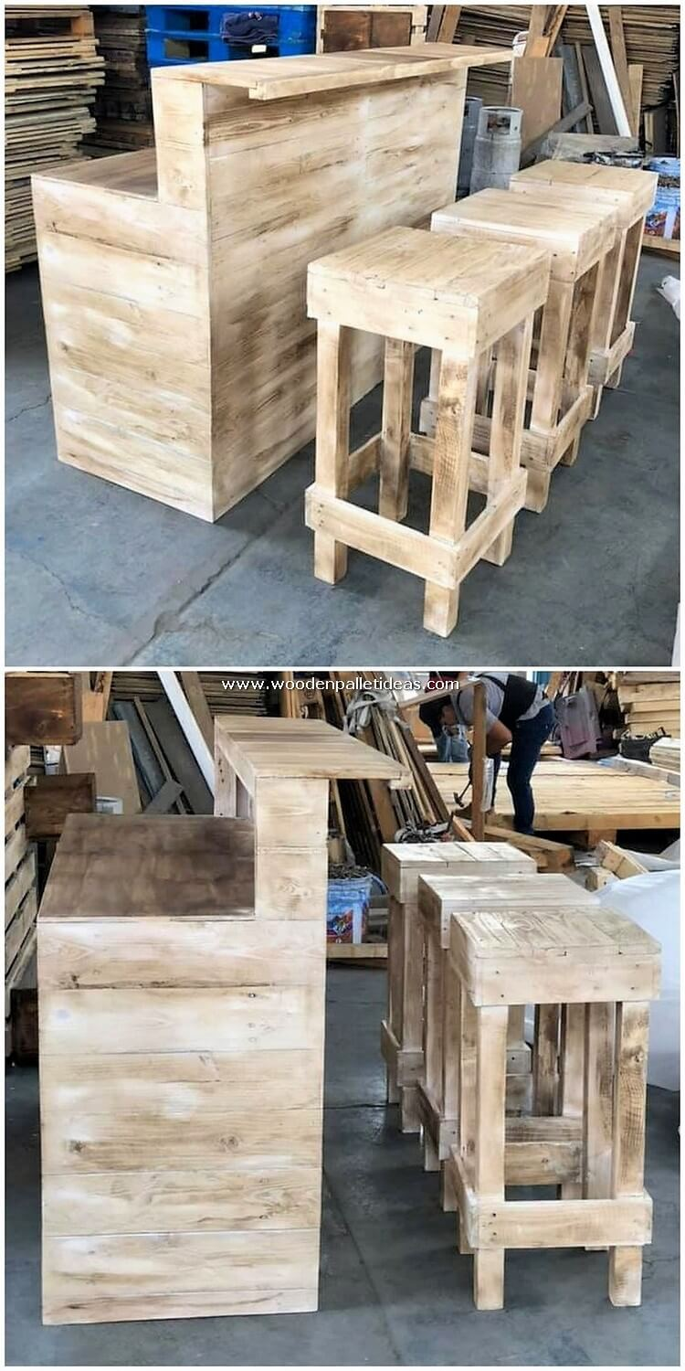 Pallet-Counter-Table-and-Stools