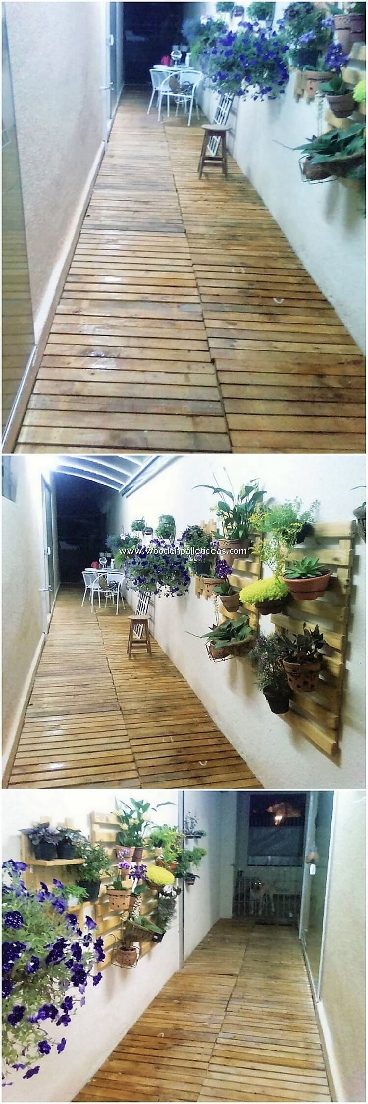 Pallet Floor and Wall Planters