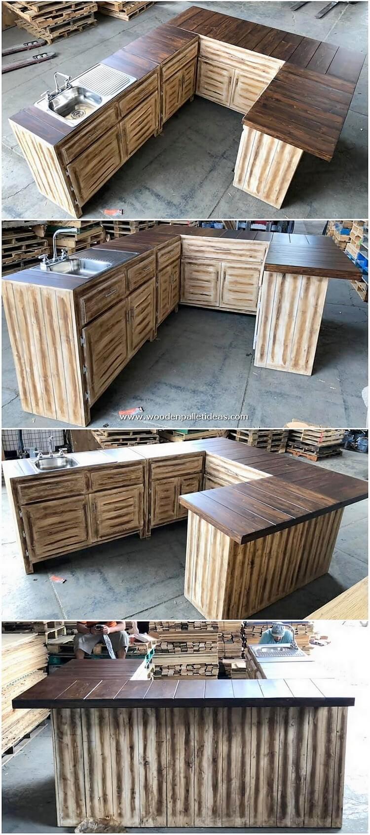 Pallet Kitchen Island Table