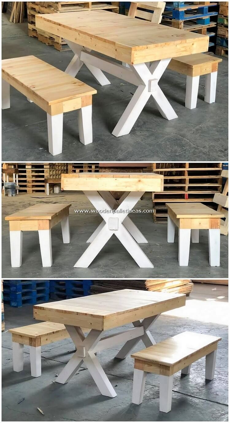Pallet-Table-and-Benches