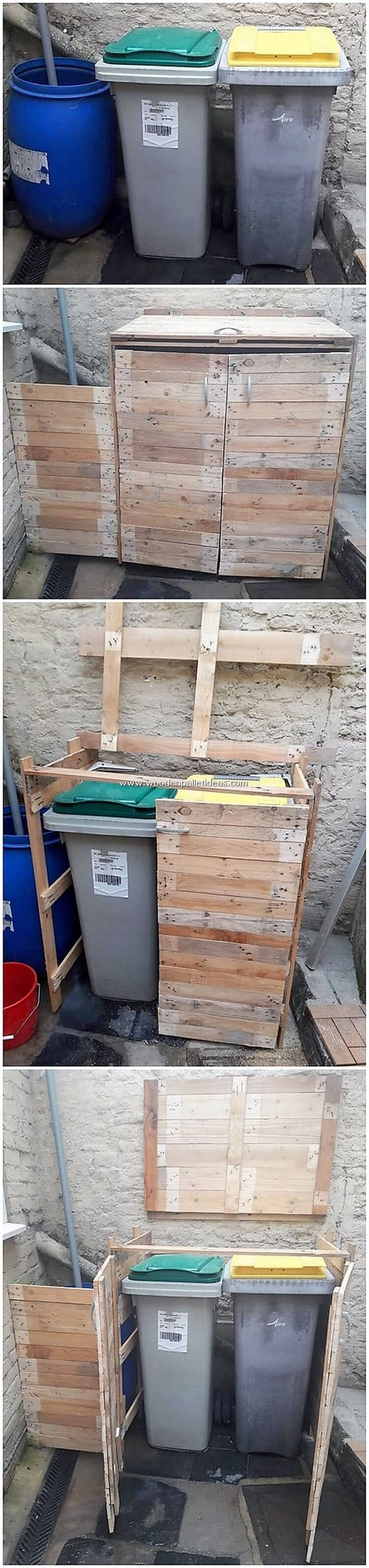 Pallet-Wastebin-Frame