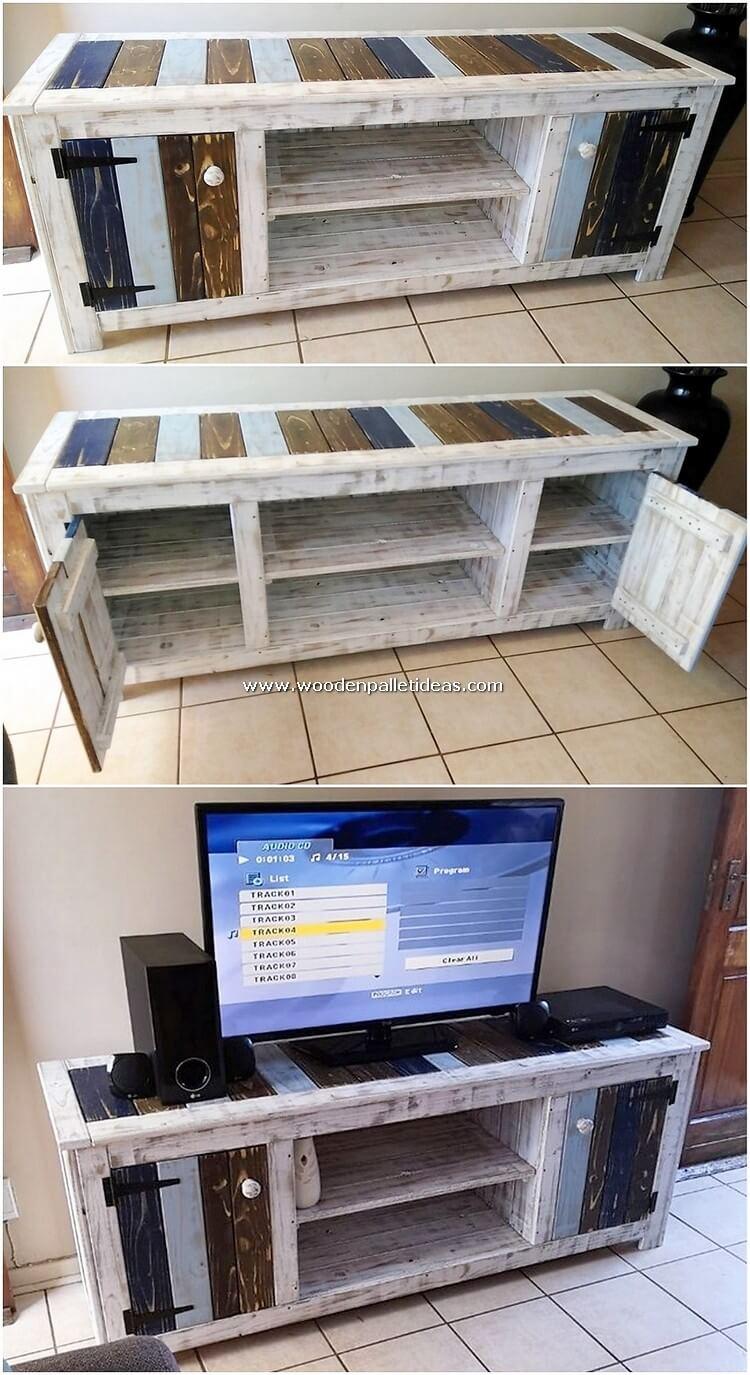 Pallet Wood Media Cabinet