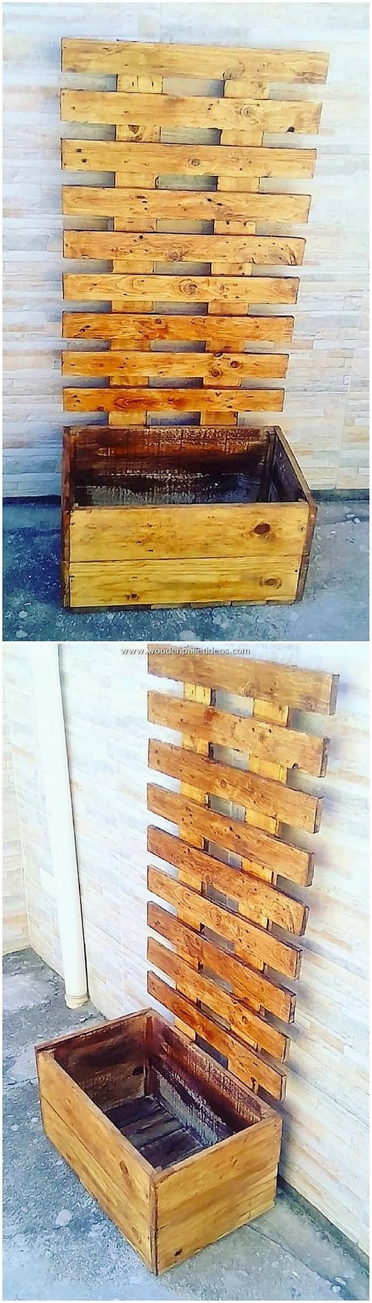 Wood Pallet Table Planter