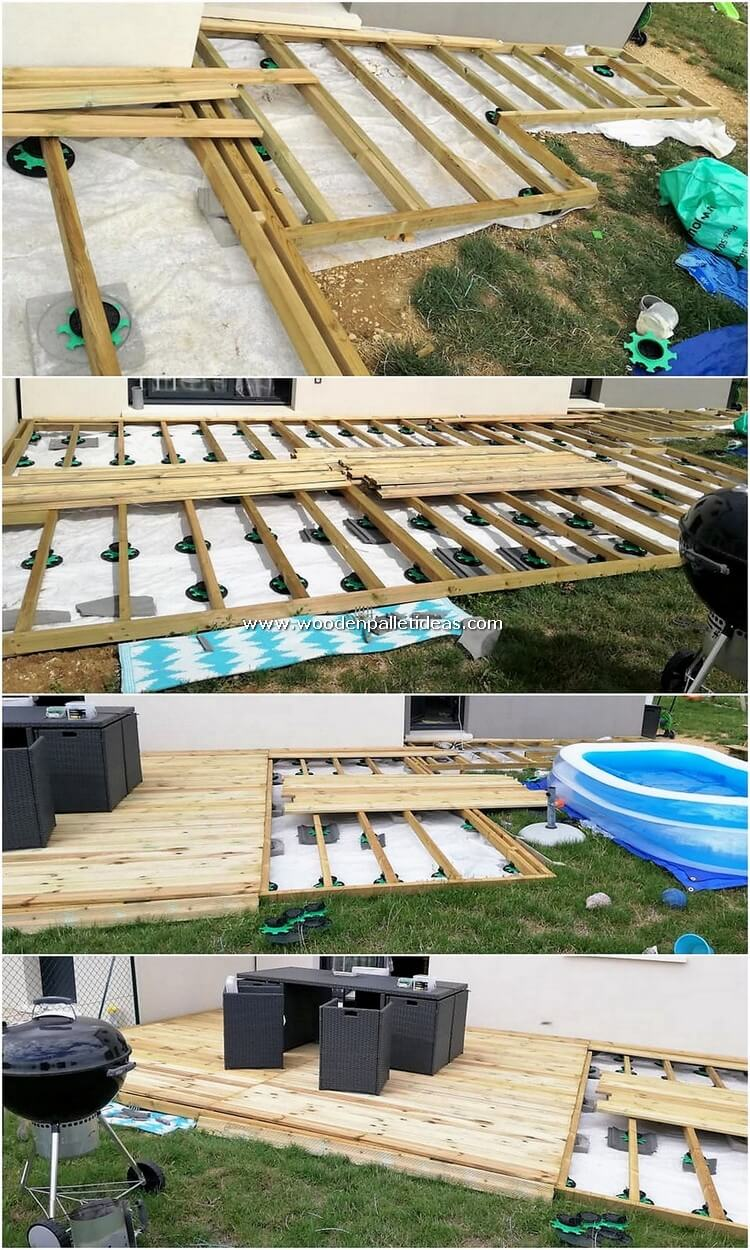 DIY Wood Pallet Garden Terrace