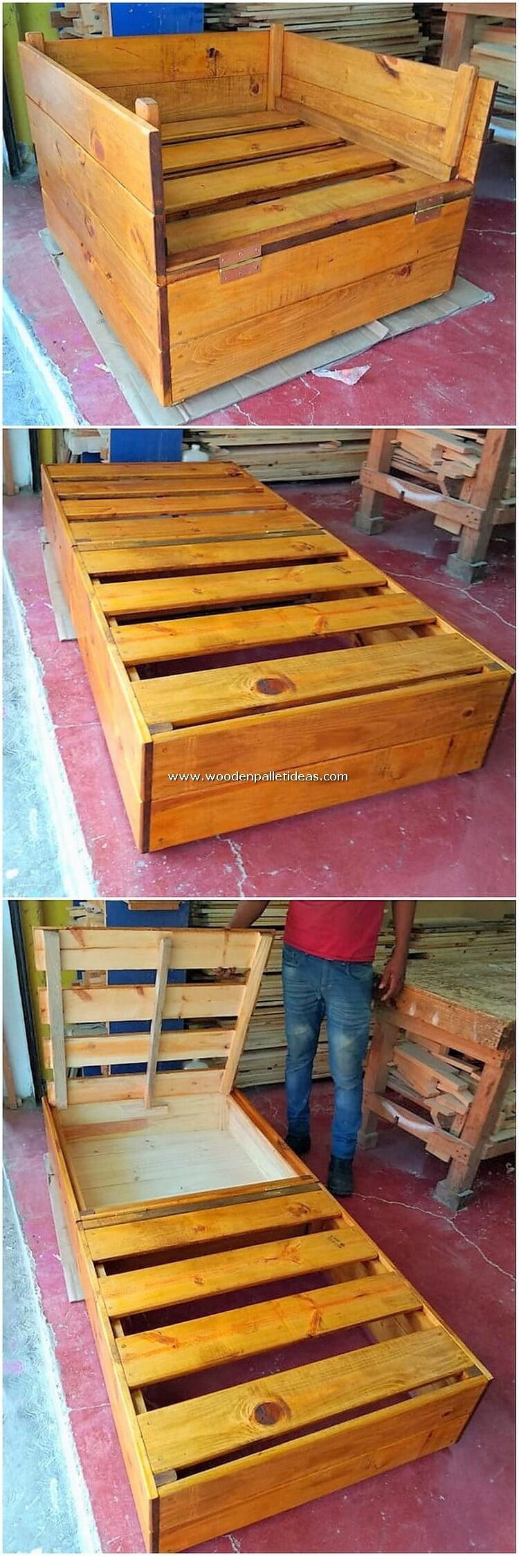 Pallet Chair and Convertible Bed