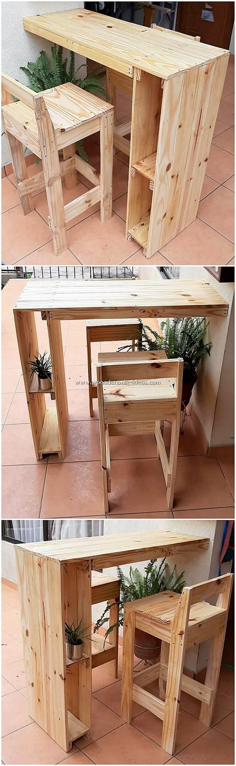 Pallet Desk Table and Chair