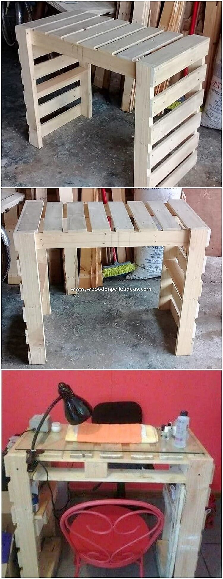 Wood Pallet Desk Table