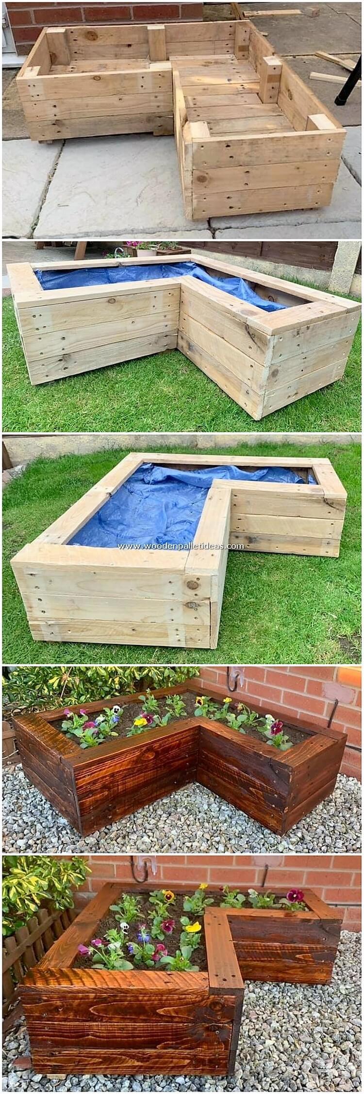 DIY Pallet Garden Planter