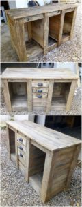 DIY-Pallet-Table-with-Drawers
