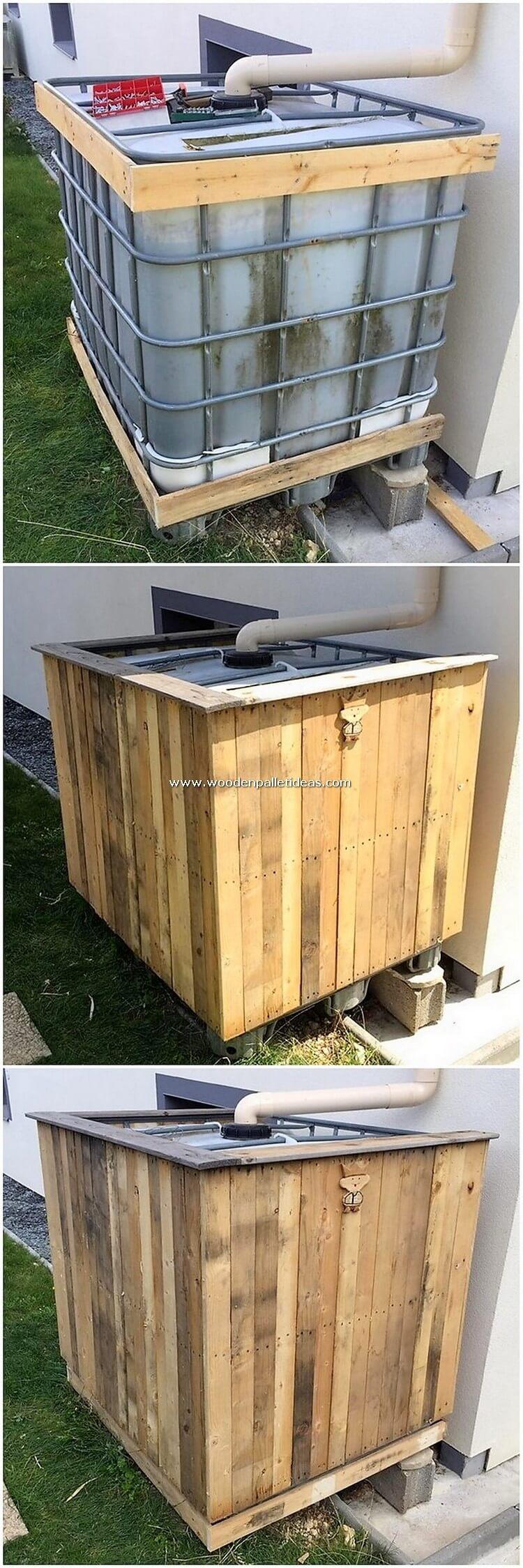 DIY-Pallet-Water-Tank-Frame