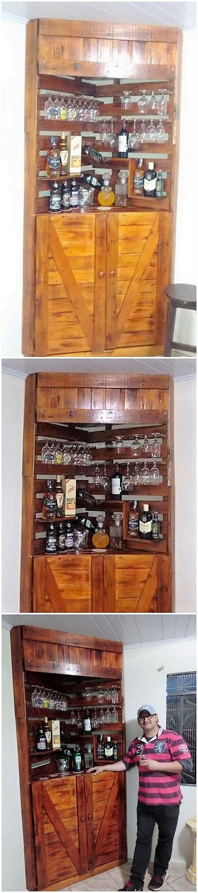 Pallet Corner Cabinet