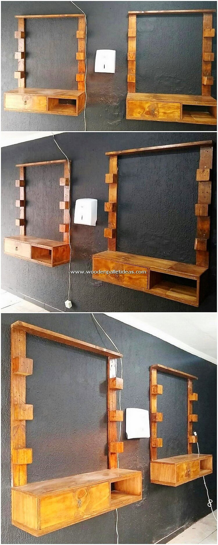 Pallet-Mirror-Frames-with-Drawers