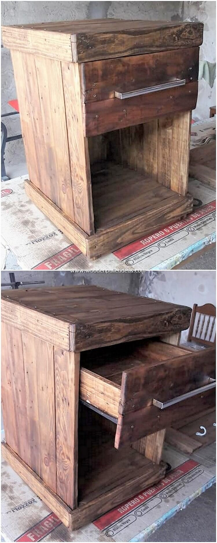 Pallet-Side-Table-with-Drawer