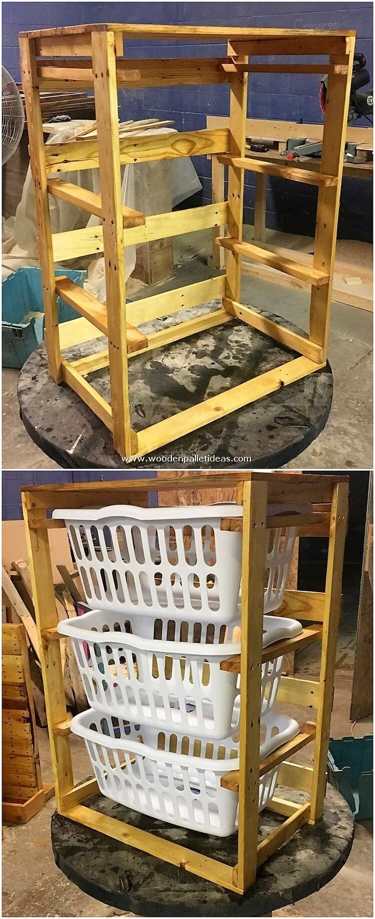 Pallet-Table-with-Laundry-Baskets