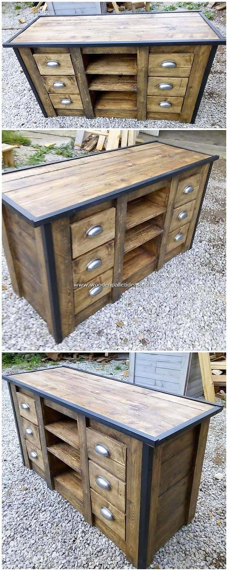 Recycled Pallet Wood Cabinet