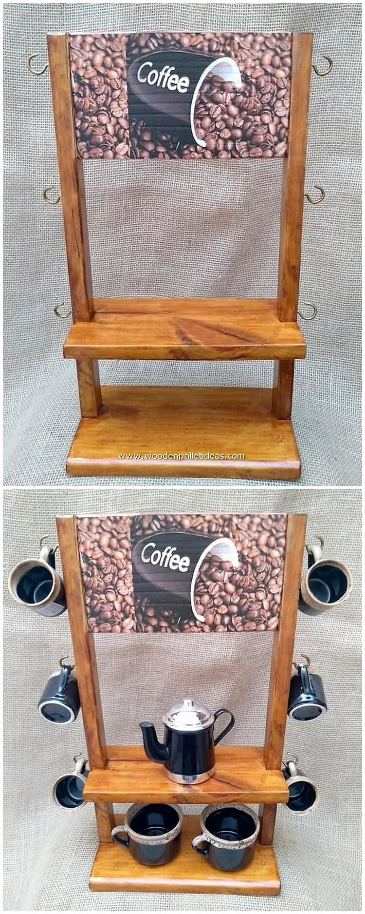 Pallet-Coffee-Mug-Holder