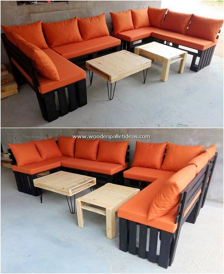Pallet-Couch-Set-and-Table