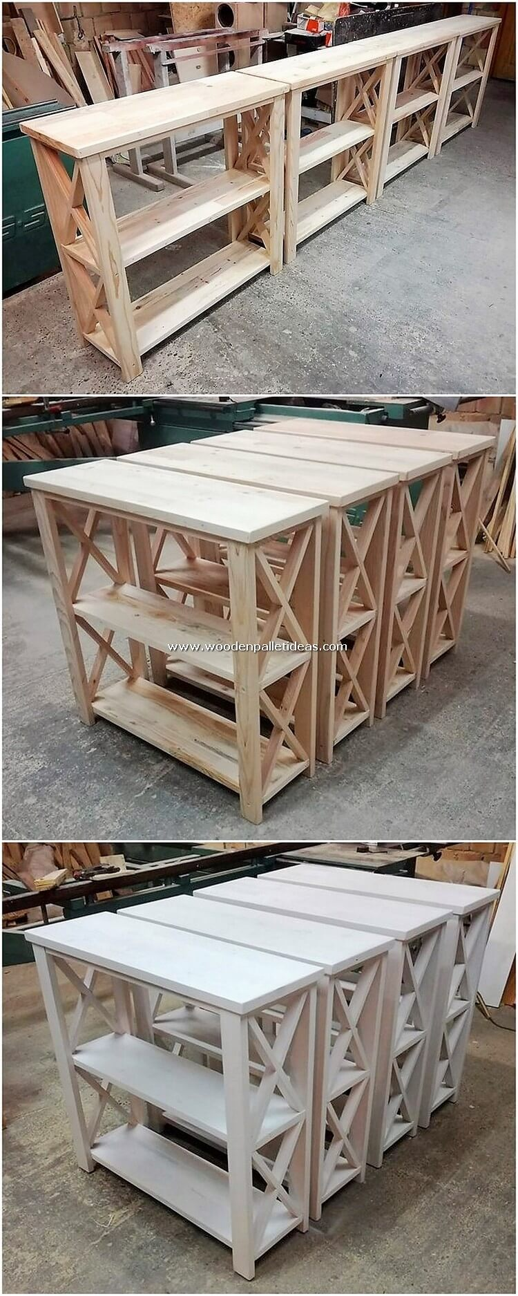 Pallet-Shelving-Tables